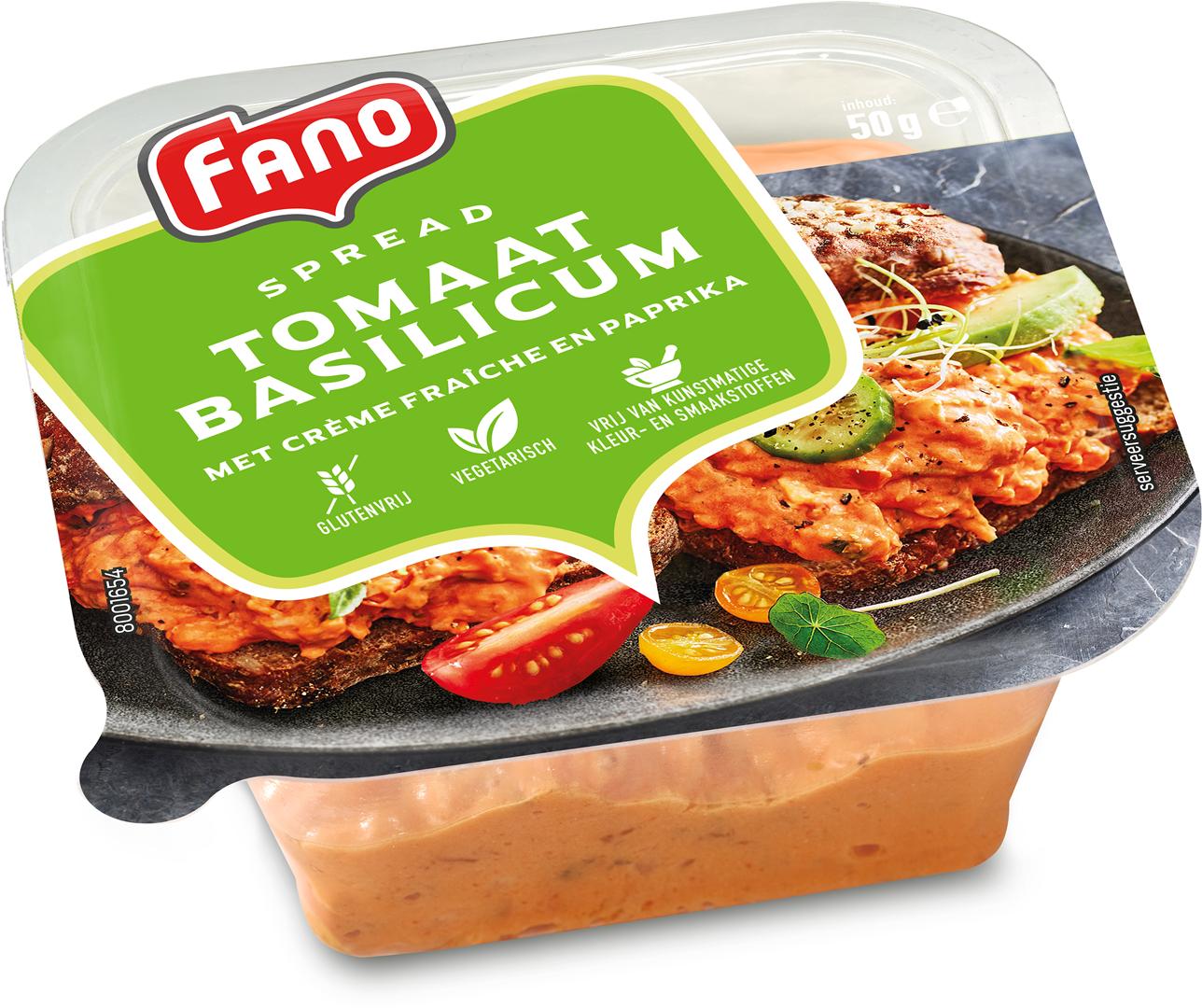 Productafbeelding FANO Italiaanse Spread tomaat basilicum 50g