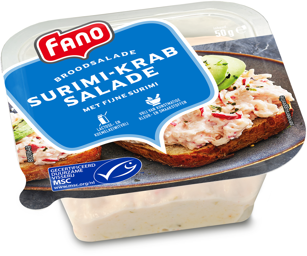 Productafbeelding FANO surimi-krab salade 50g