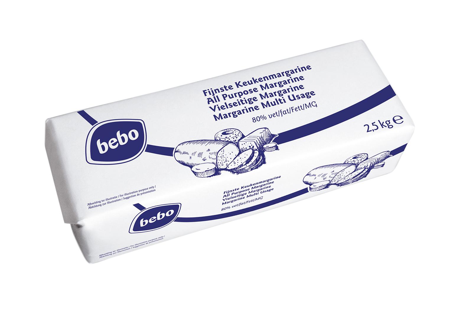 Productafbeelding BEBO Fijnste Keuken Margarine 4x2,5kg
