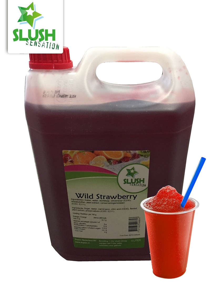 Productafbeelding Slush Wild Strawberry(non azo) 5L