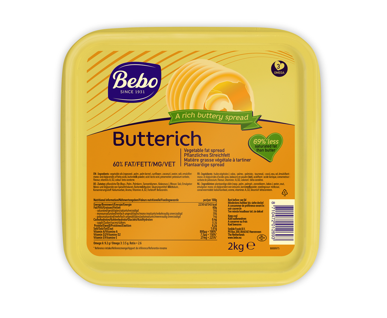 Productafbeelding BEBO Butterich 6x2kg