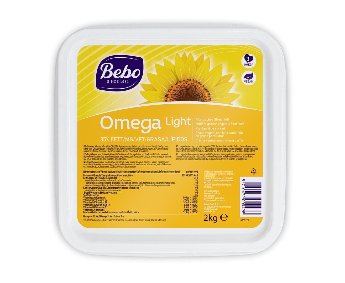 Productafbeelding BEBO Omega Light 6x2kg