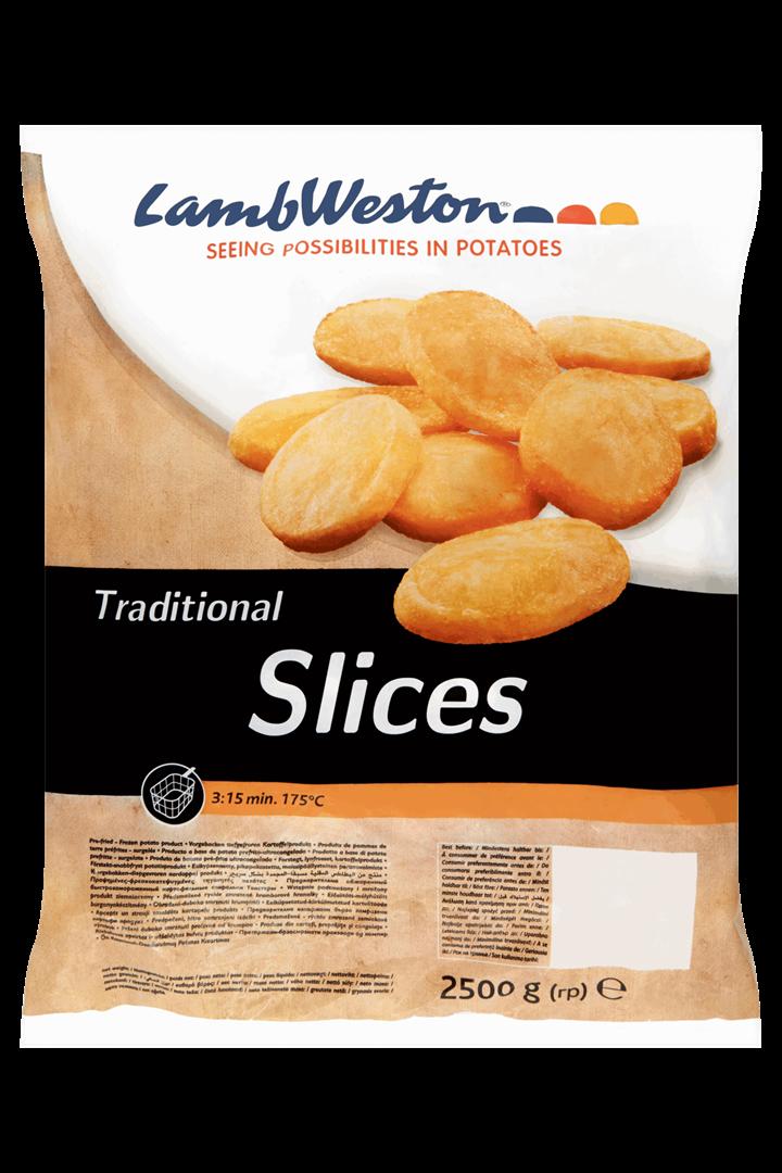 Productafbeelding Lamb Weston Aardappel Product Slices Traditional 2500 g Zak