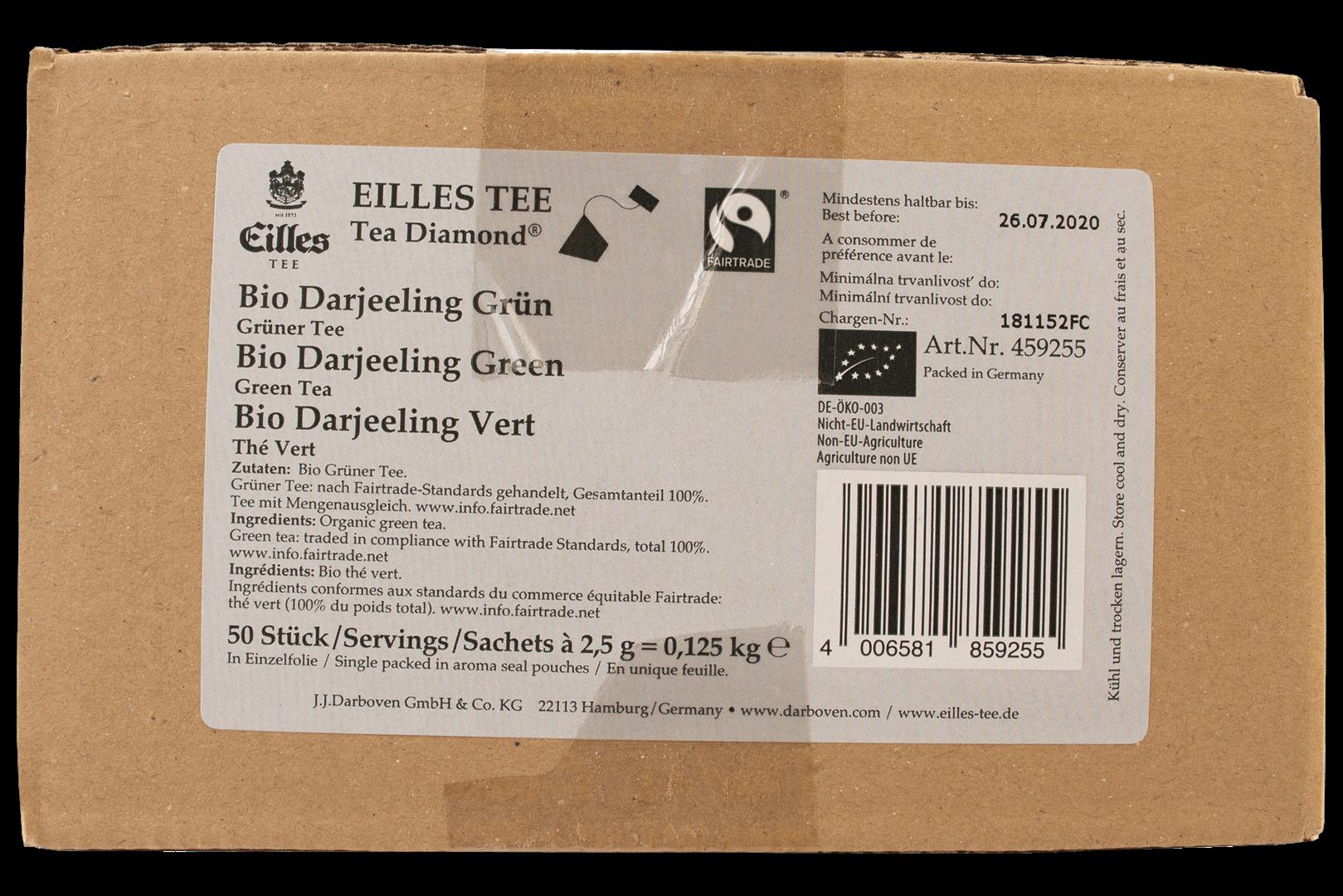 Productafbeelding Eilles Tea Diamonds Bio Fairtrade Darjeeling Green geënveloppeerd