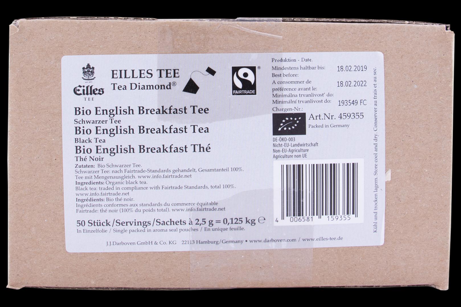 Productafbeelding Eilles Tea Diamond Bio Fairtrade English Breakfast geënveloppeerd