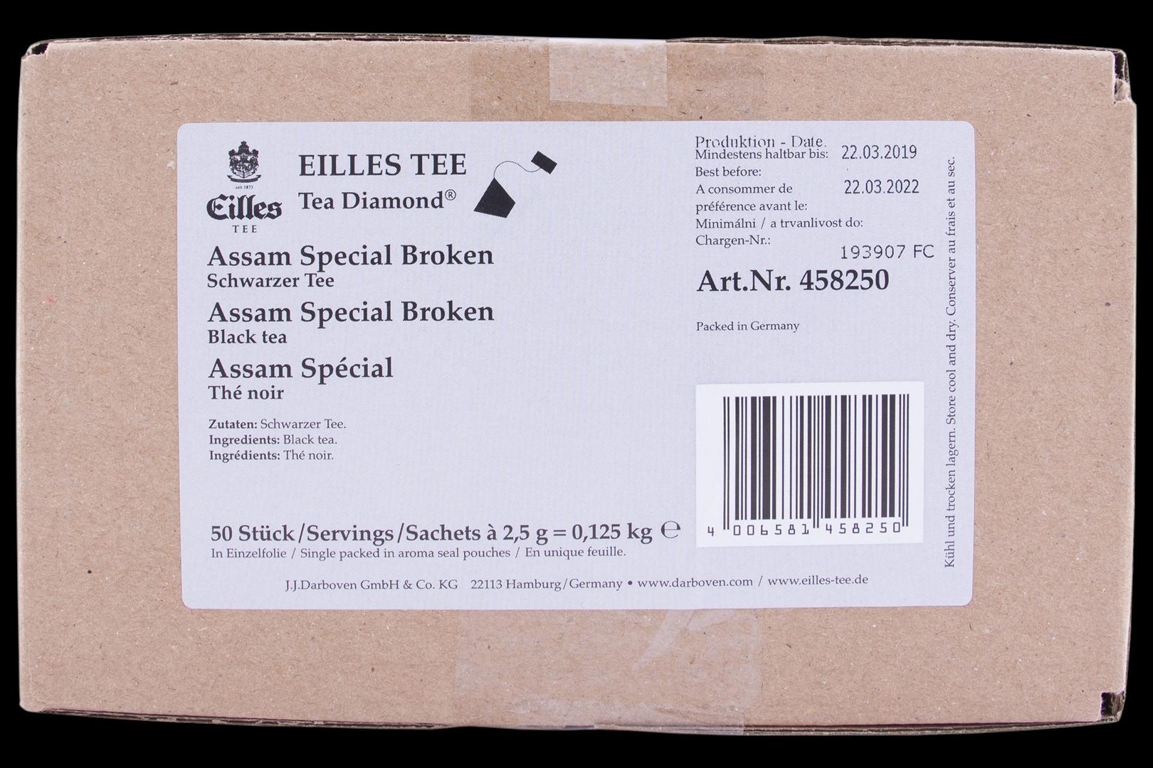 Productafbeelding Eilles Tea Diamonds Assam Special Broken geënveloppeerd
