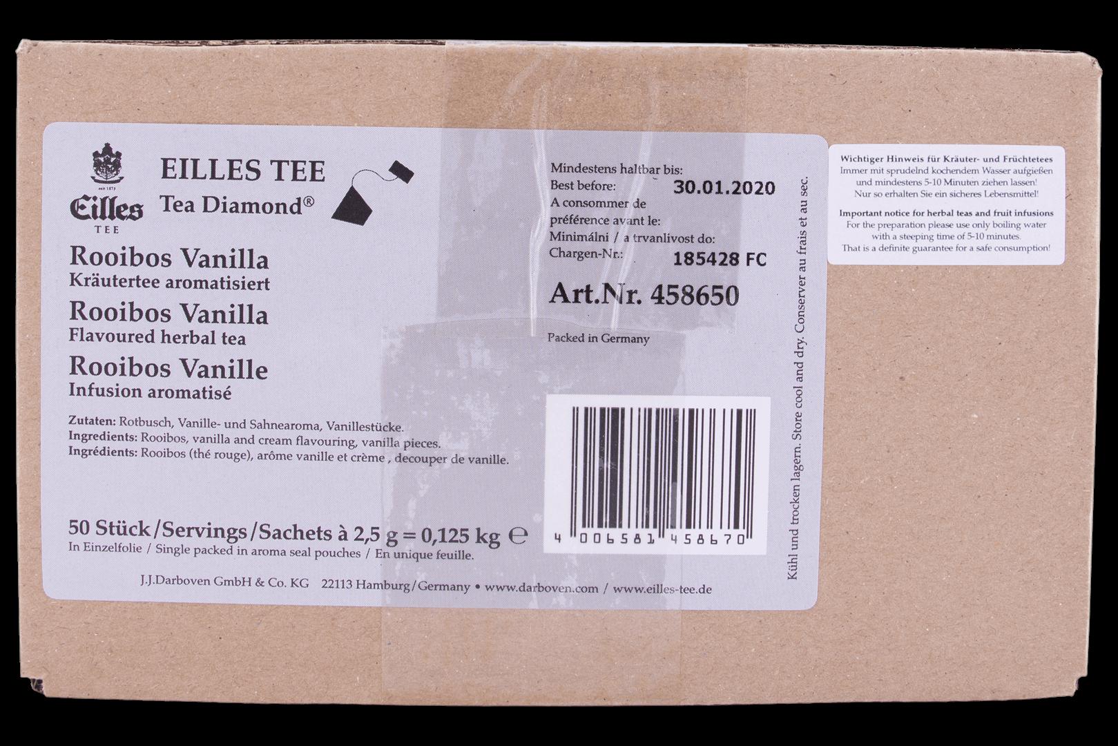 Productafbeelding Eilles Tea Diamonds Rooibos Vanilla geënveloppeerd
