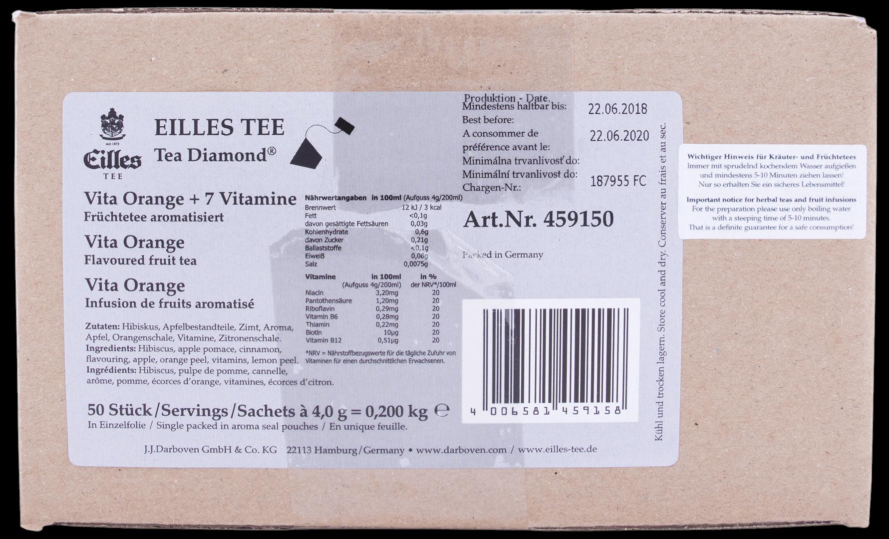 Productafbeelding Eilles Tea Diamonds Vita Orange + 7 Vitamine geënveloppeerd