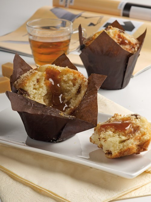 Productafbeelding Dawn Toffee Chocolate Injected Tulip Muffin 24 stuks doos