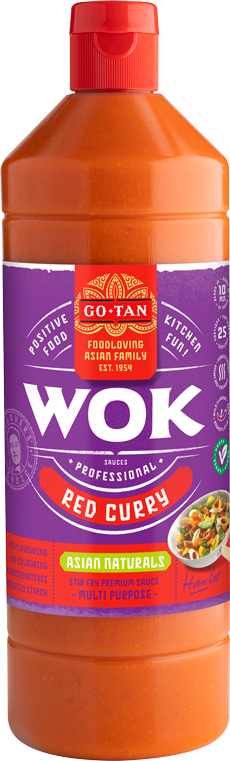Productafbeelding Go-Tan Woksaus Red Curry 1000ml Asian Naturals