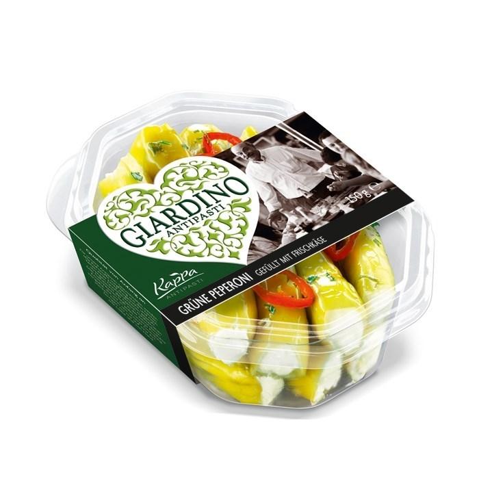 Productafbeelding Groene peperoni gevuld met verse roomkaas