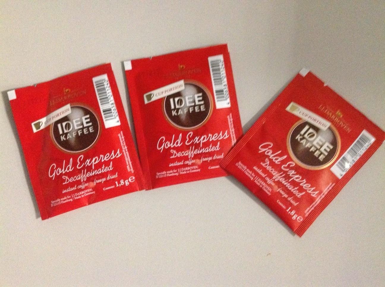 Productafbeelding IDEE KAFFEE Gold Express Sachet Caffeine vrij