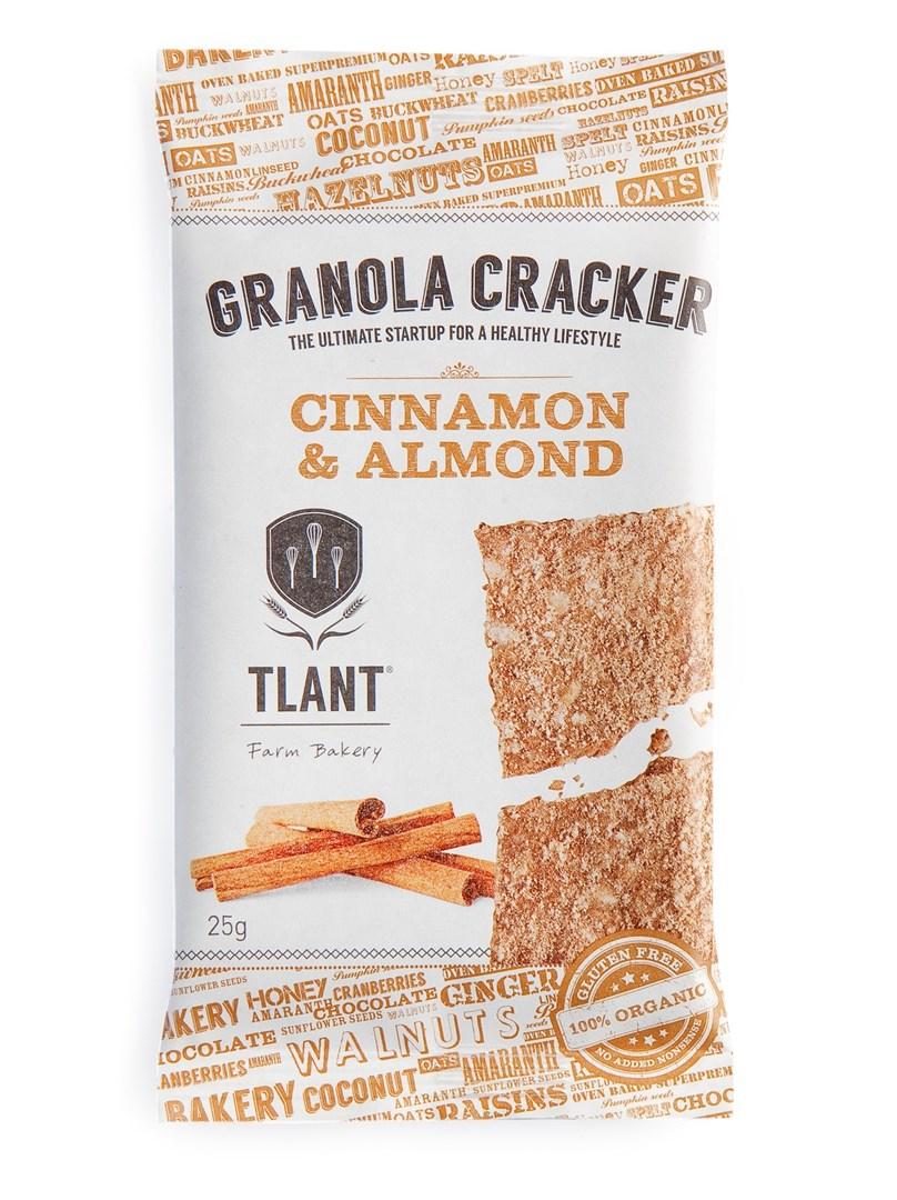 Productafbeelding TLANT Granola Cracker Cinnamon & Almond 25 gram zakje
