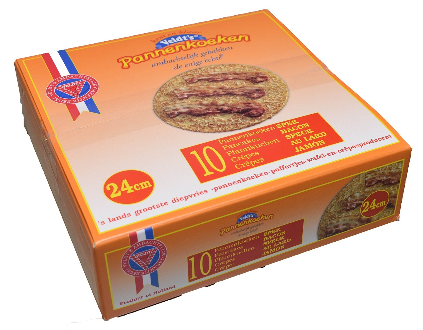 Productafbeelding Spek pannenkoek 24 cm 10 x 200 gr.