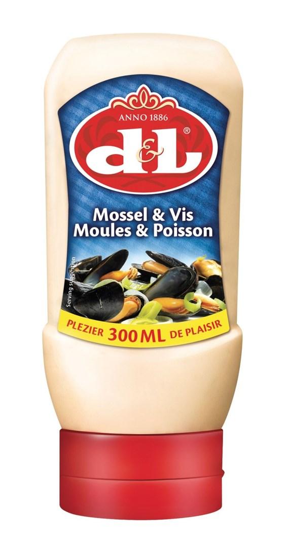 Productafbeelding D&L Mossel & Vis Saus Knijpfles 300 ml Fles