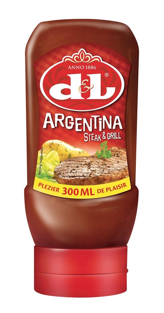 Productafbeelding D&L Saus Argentina Steak & Grill 300 ml Fles