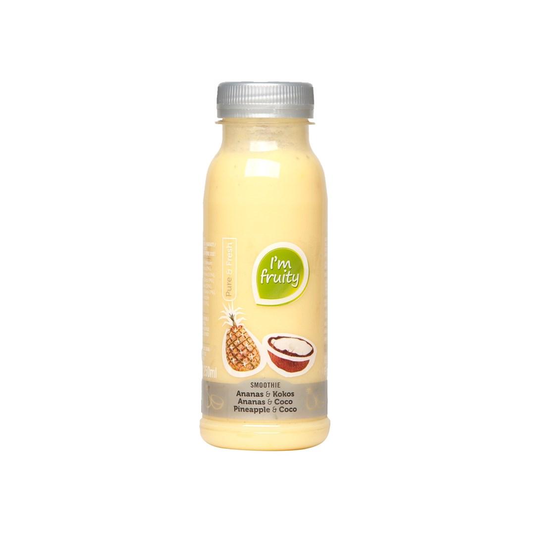 Productafbeelding Smoothie Ananas-kokos HPP 250 ml