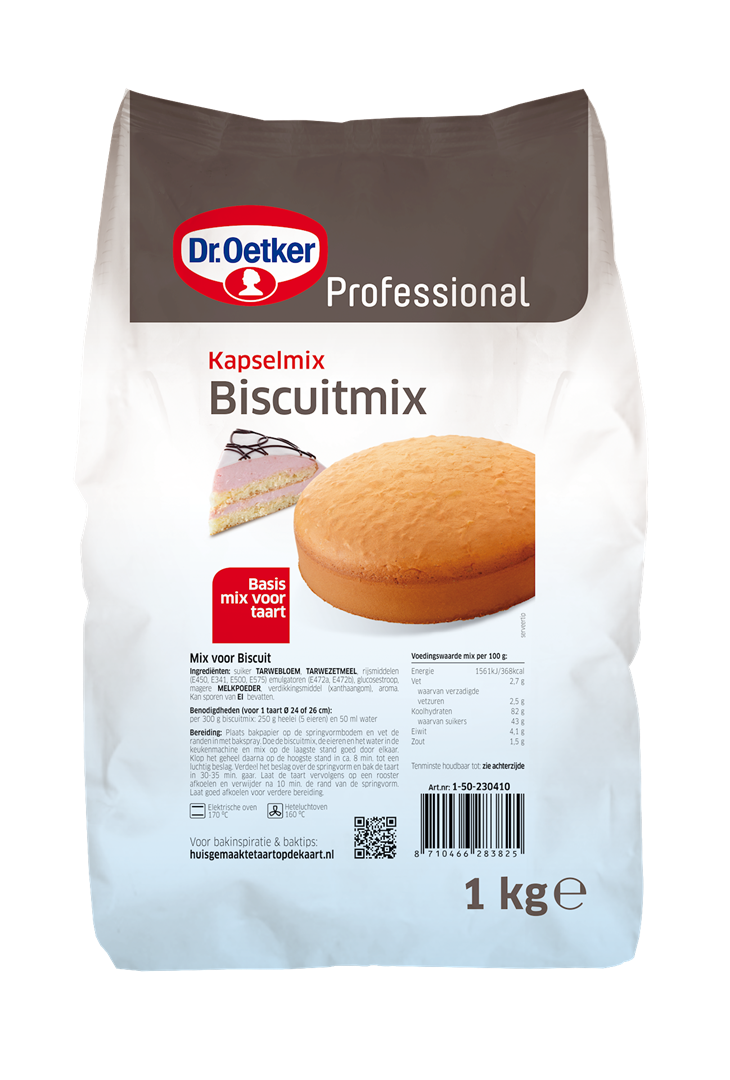 Productafbeelding Dr. Oetker Professional Biscuitmix/Kapselmix 6x1kg