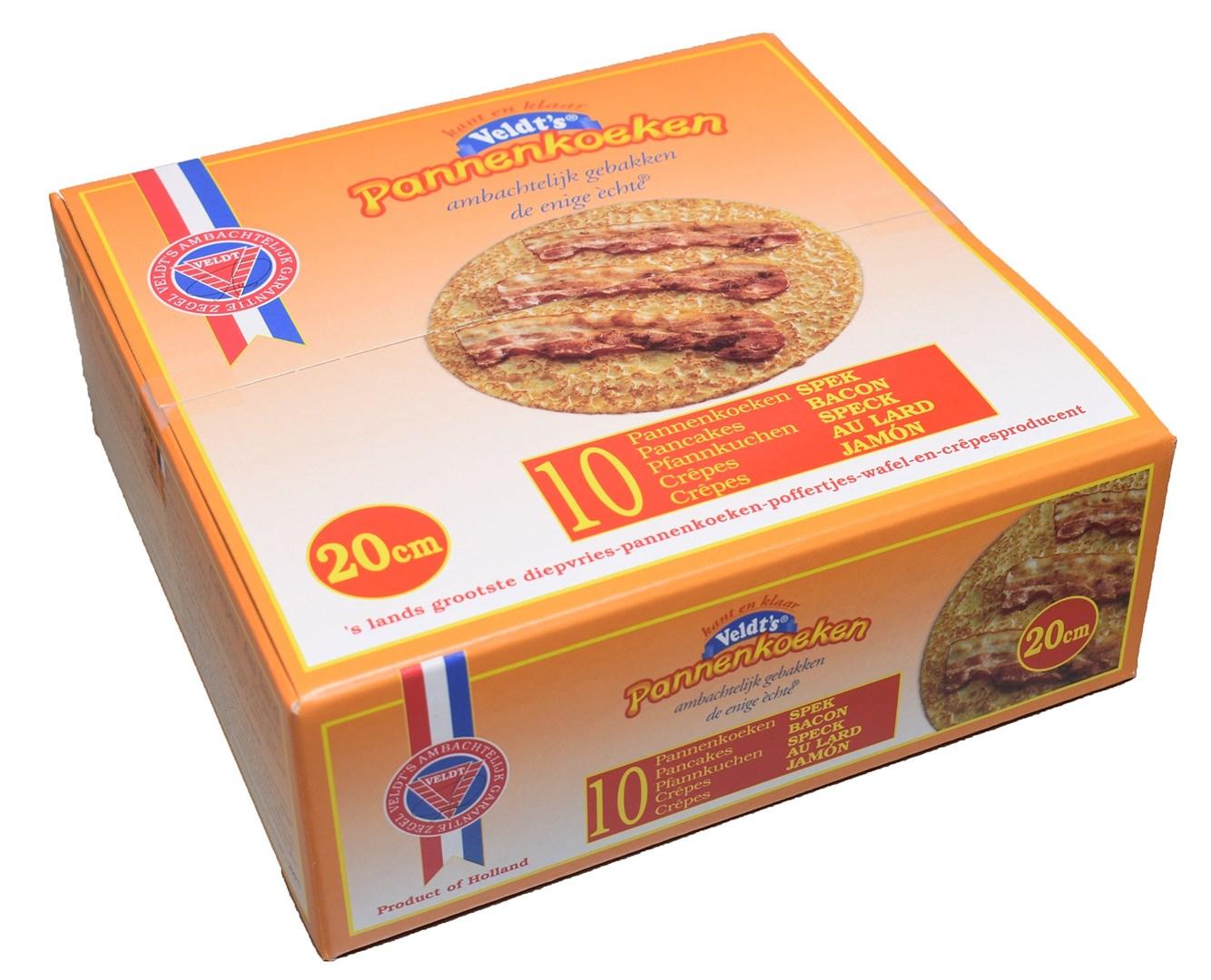 Productafbeelding Spek pannenkoek 20 cm 10 x 120 gr.
