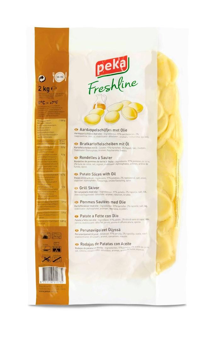 Productafbeelding Peka Freshline Aardappelschijven met olie 2kg