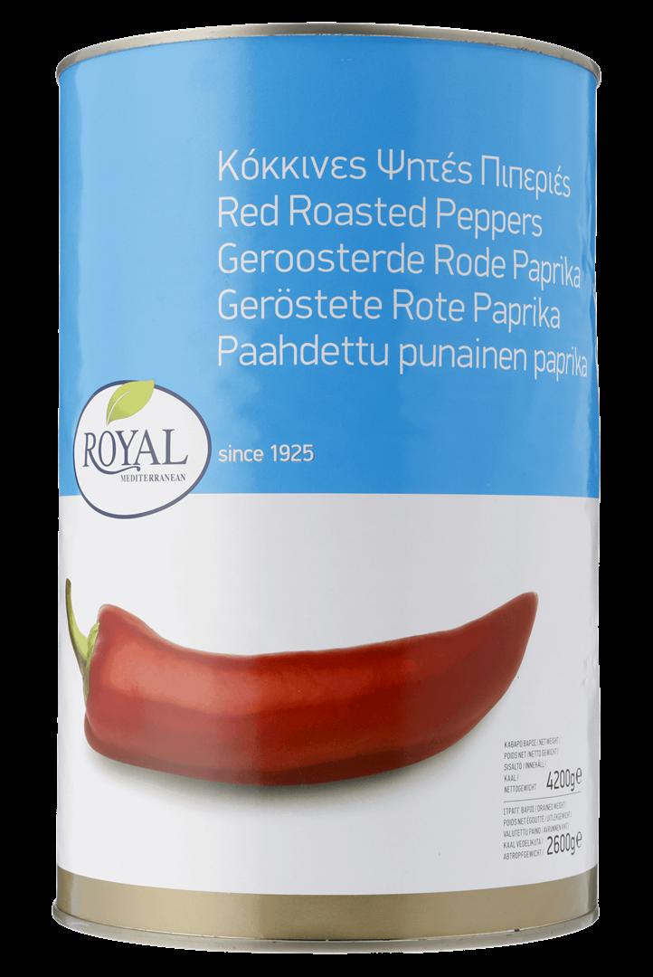 Productafbeelding Royal geroosterde rode paprika 4200g blik