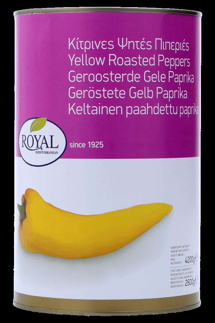 Productafbeelding Royal geroosterde gele paprika 4200g blik