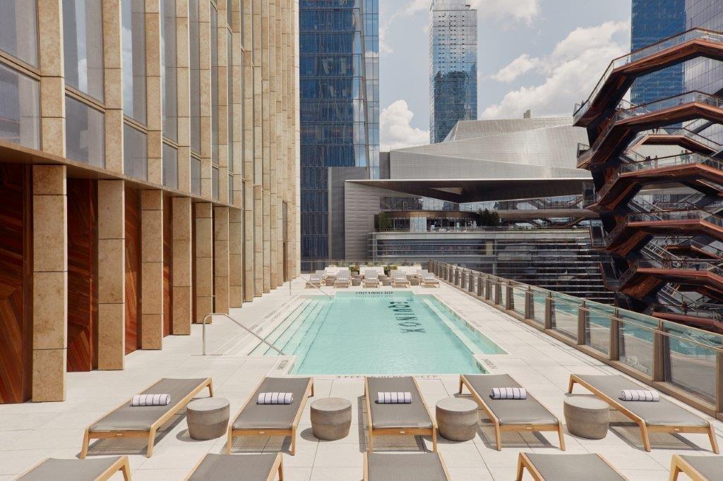 Equinox Hudson Yards_Outdoor Pool Retail in hotels | Horecava