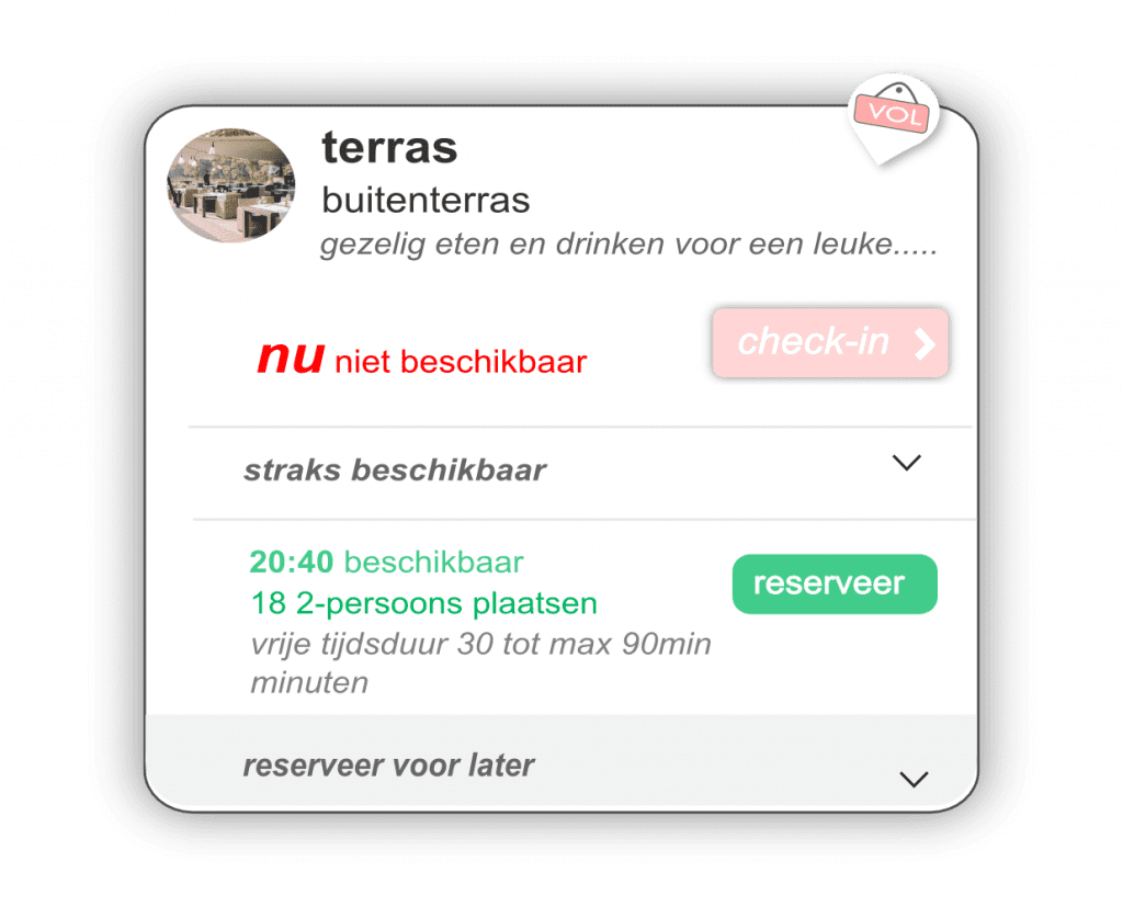 Winkelvrij-app voor real time optimale bezettingsgraad