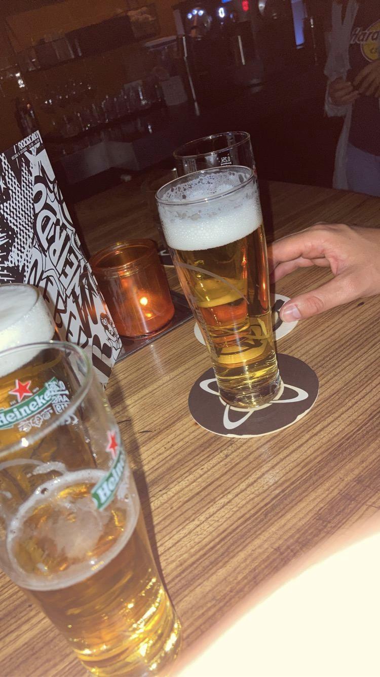 Getapt biertje in Café Weber