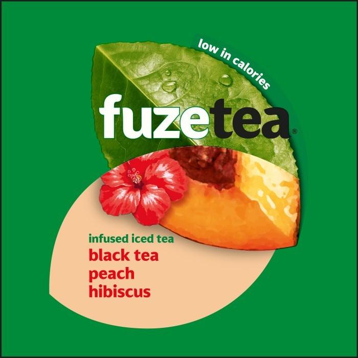 Merkafbeelding Fuze Tea Black tea Peach Hibiscus