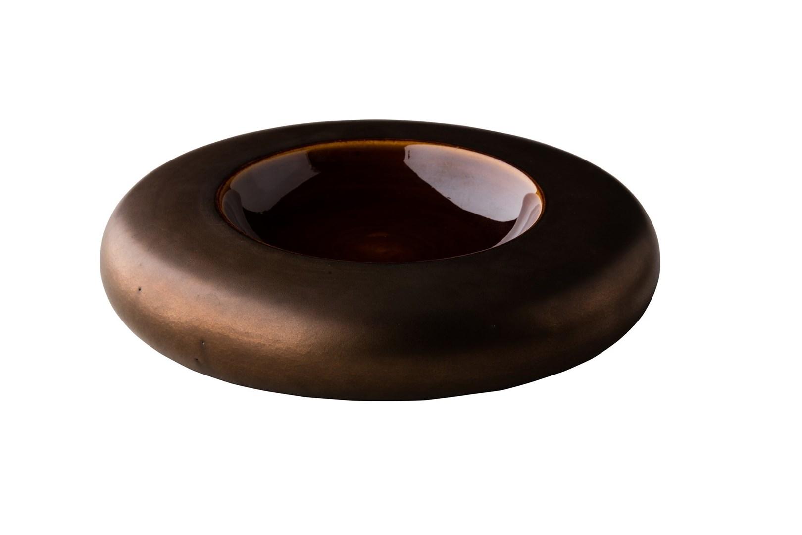 Productafbeelding Donut kom metallic goud 22 cm