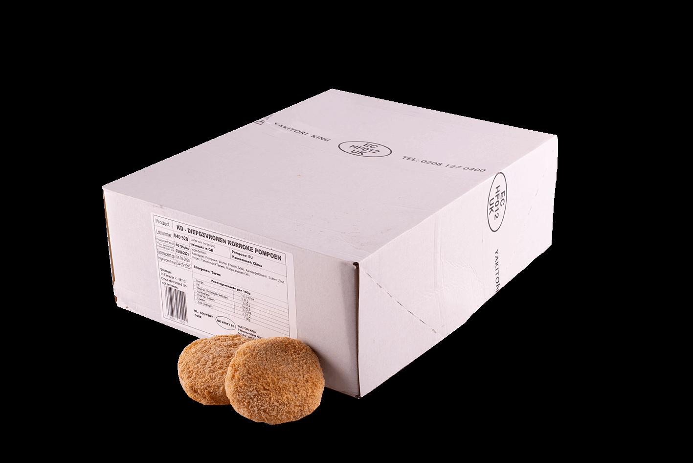 Productafbeelding DEEP FRIED PUMPKIN KORROKE 60 GR. BOX 50 PIECES