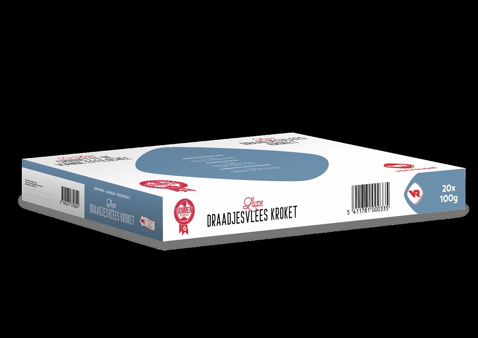 Productafbeelding Luxe Draadjesvlees Kroket 20x100g  VR, diepvries