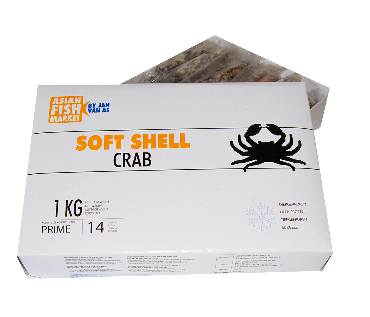 Productafbeelding CRAB SOFT SHELL PRIME 70-90 DOOS 1KG DIEPVRIES