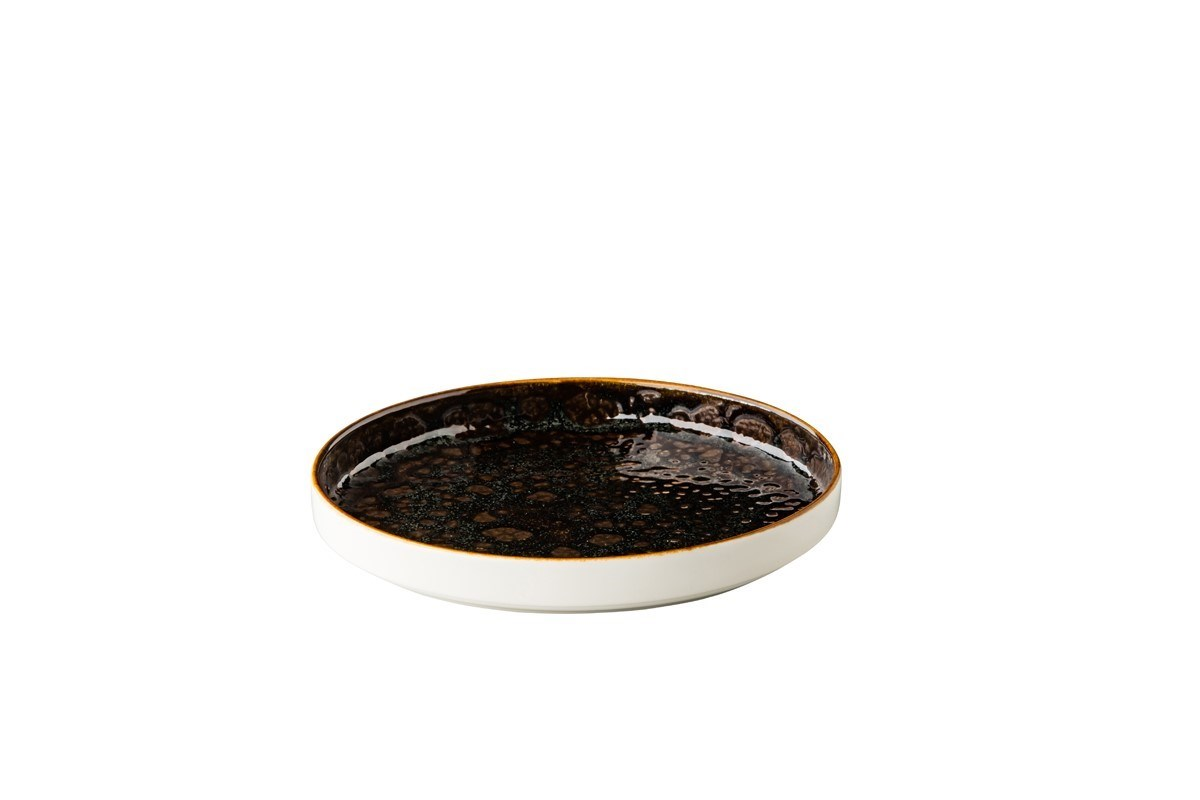 Productafbeelding Jersey bord opst. rand stapelbaar bruin 20,5 cm