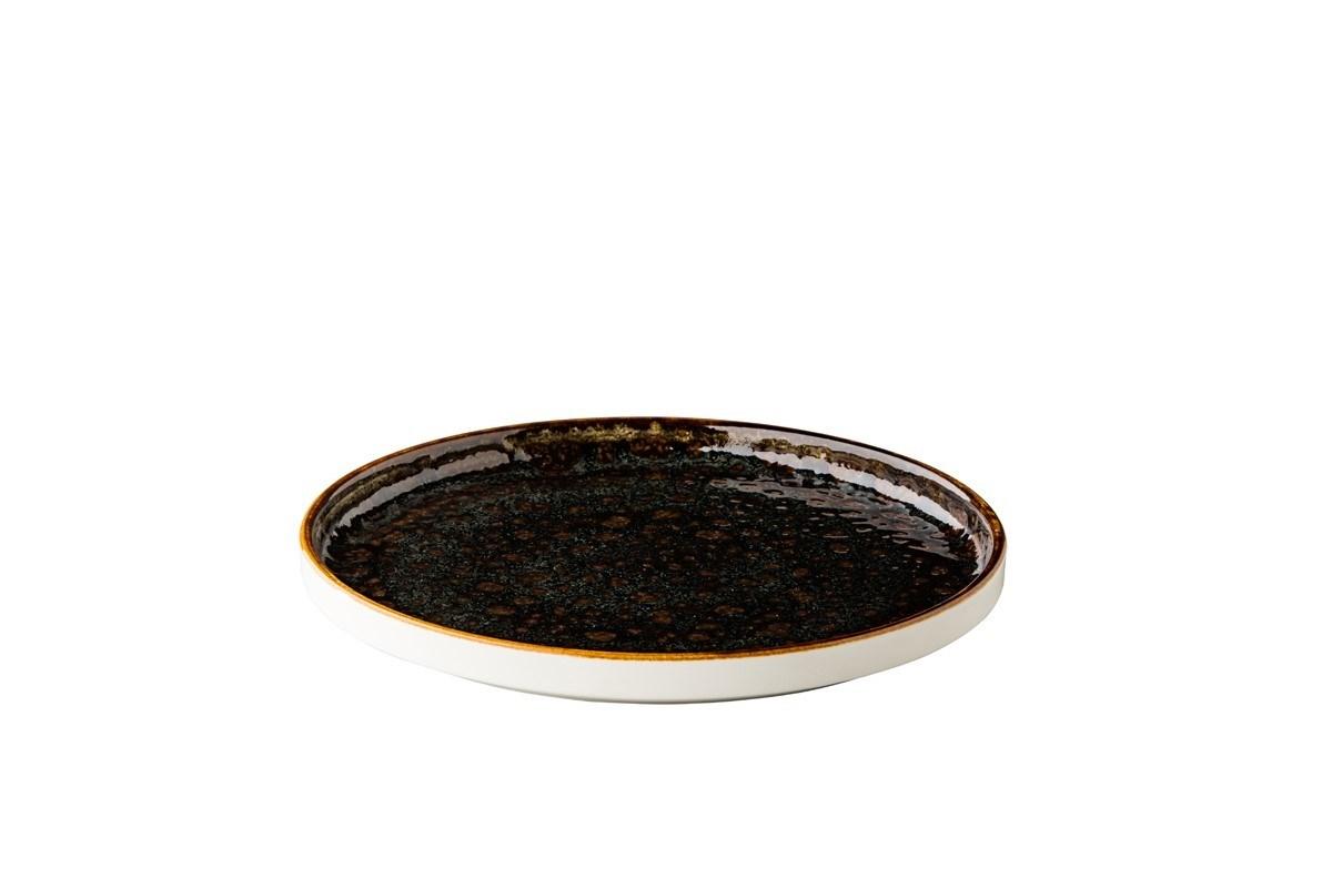 Productafbeelding Jersey bord opst. rand stapelbaar bruin 25,4 cm