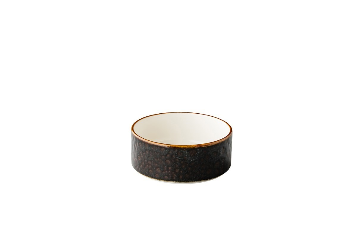 Productafbeelding Jersey kom opst. rand stapelbaar bruin 12,8 cm