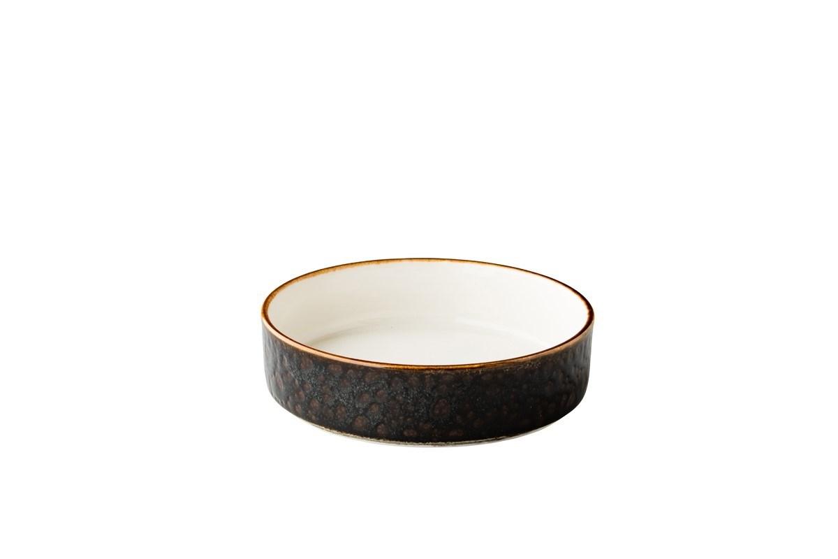 Productafbeelding Jersey bord diep opst. rand stapelbaar bruin 18cm