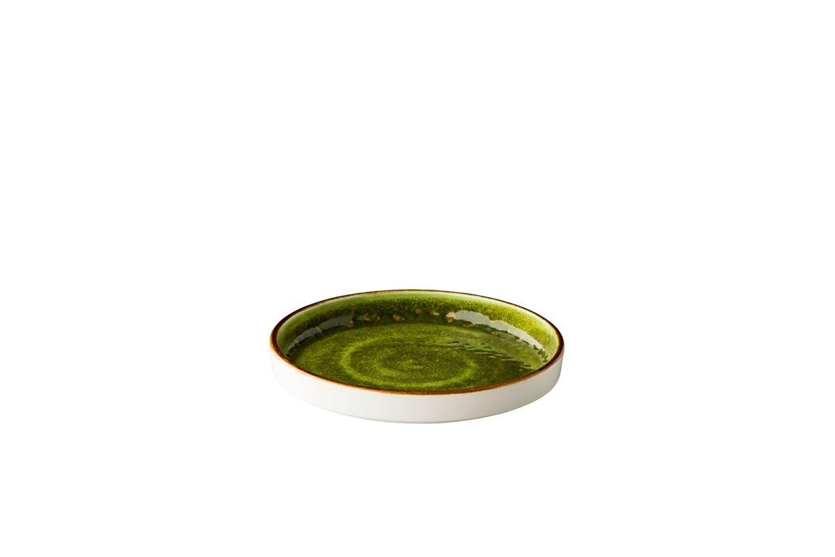 Productafbeelding Jersey bord opst. rand stapelbaar groen 16 cm