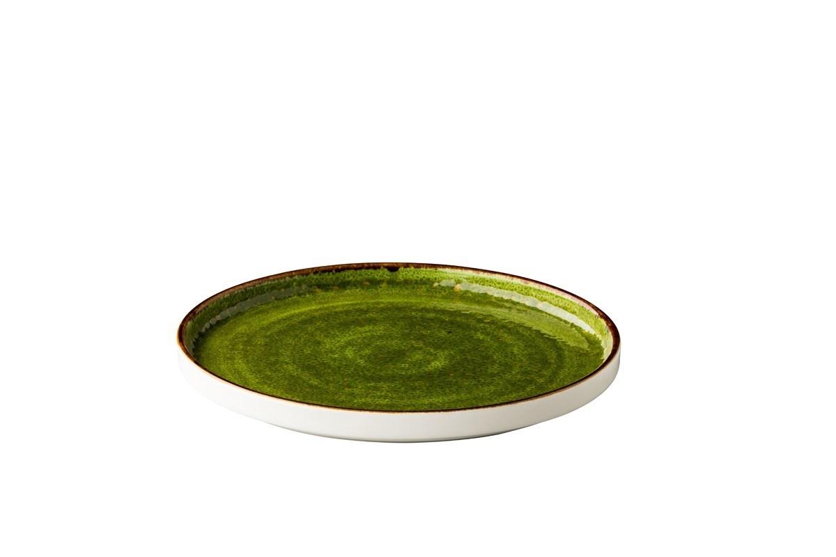 Productafbeelding Jersey bord opst. rand stapelbaar groen 25,4 cm