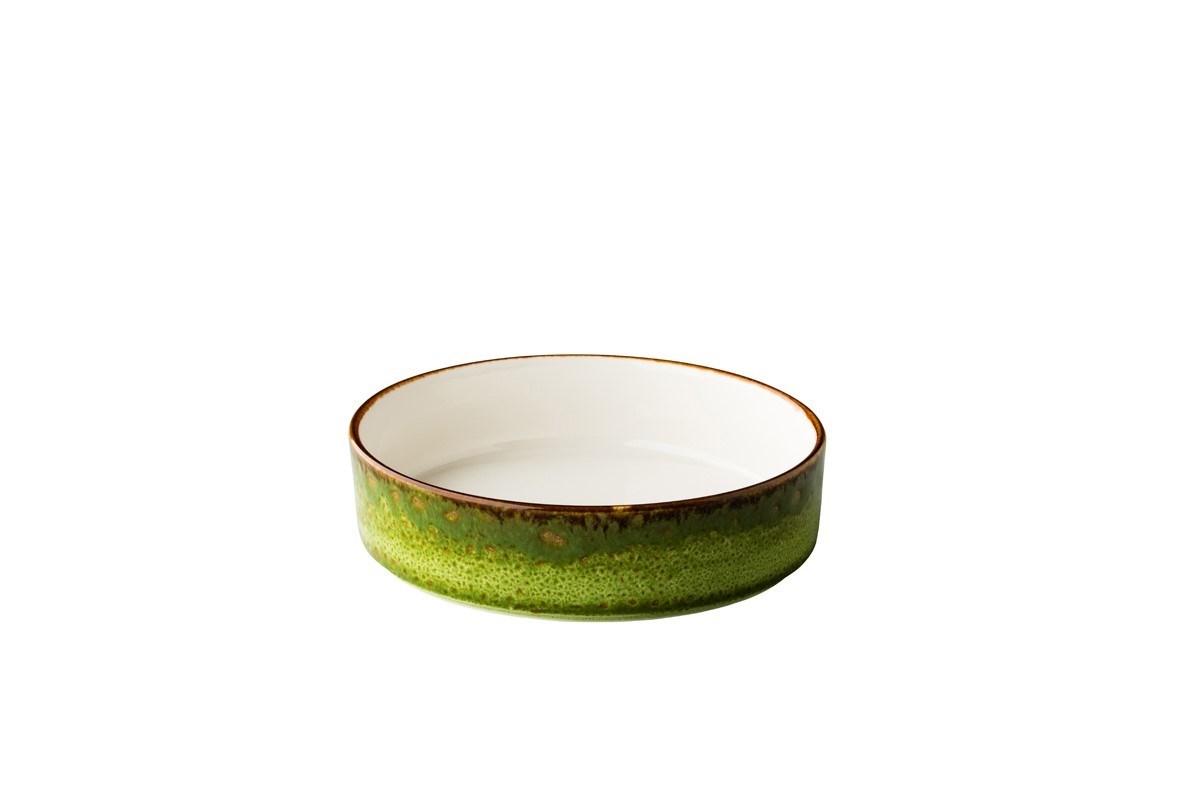 Productafbeelding Jersey bord diep opst. rand stapelbaar groen18 cm