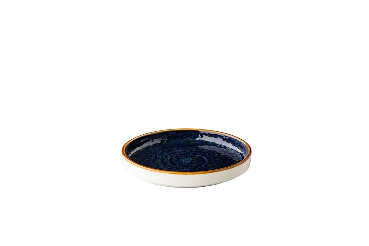 Productafbeelding Jersey bord opst. rand stapelbaar blauw 16,2 cm
