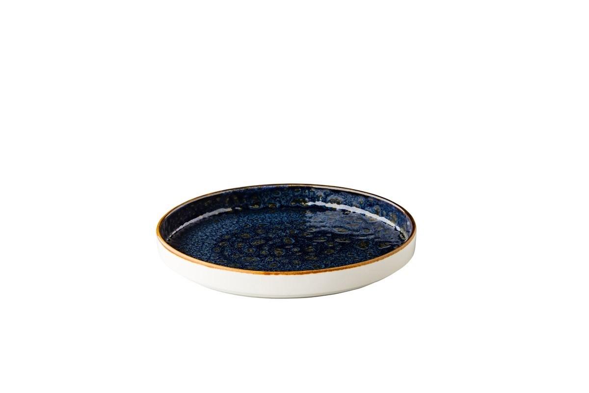 Productafbeelding Jersey bord opst. rand stapelbaar blauw 20,5 cm