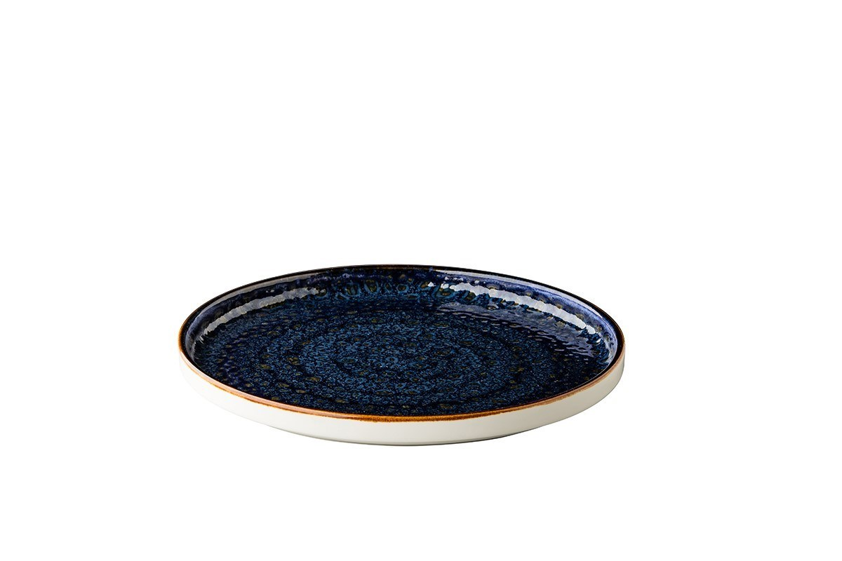 Productafbeelding Jersey bord opst. rand stapelbaar blauw 25,4 cm