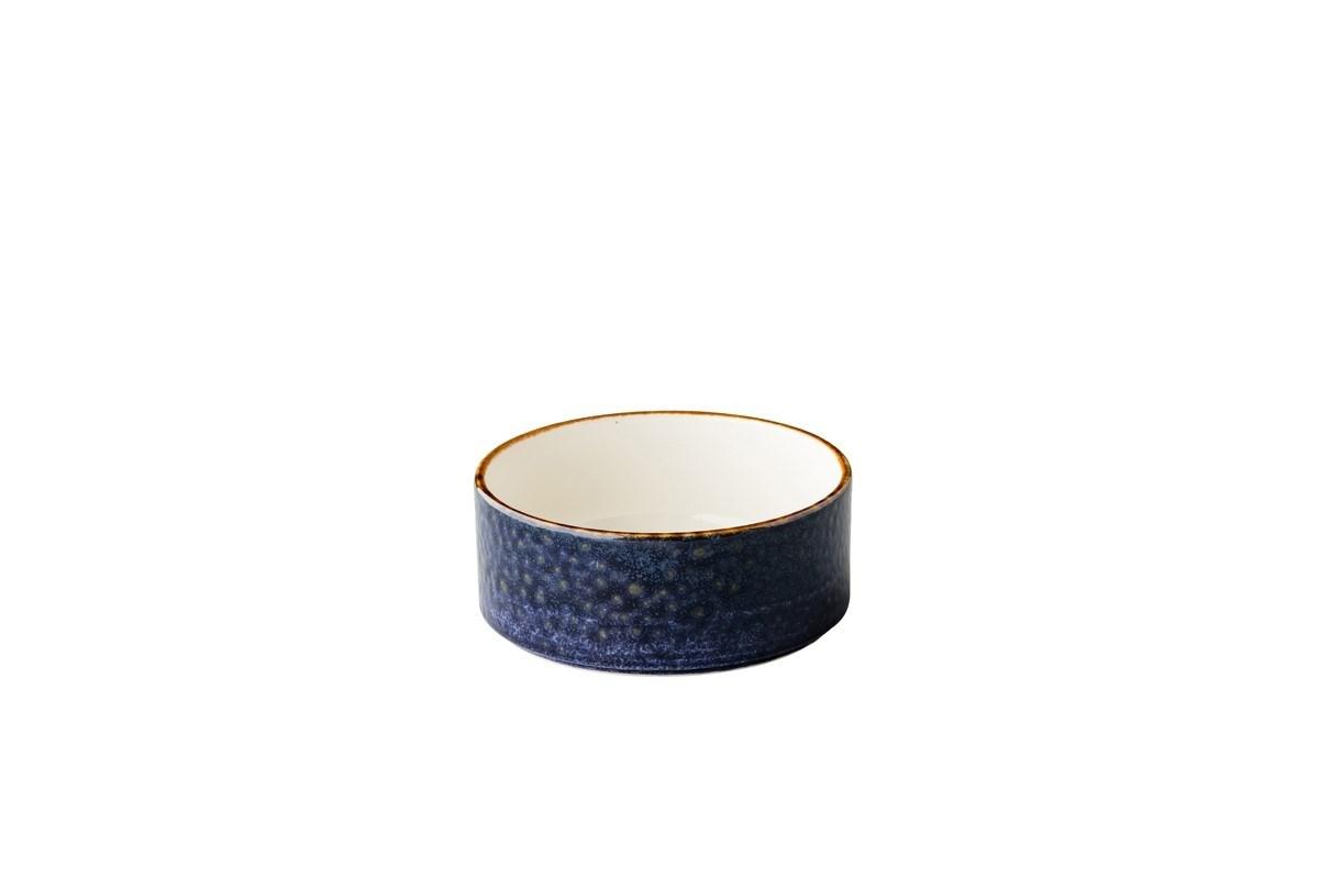 Productafbeelding Jersey kom opst. rand stapelbaar blauw 12,8 cm
