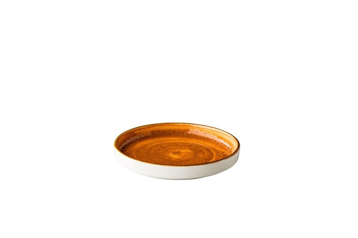 Productafbeelding Jersey bord opst. rand stapelbaar oranje 16,2 cm
