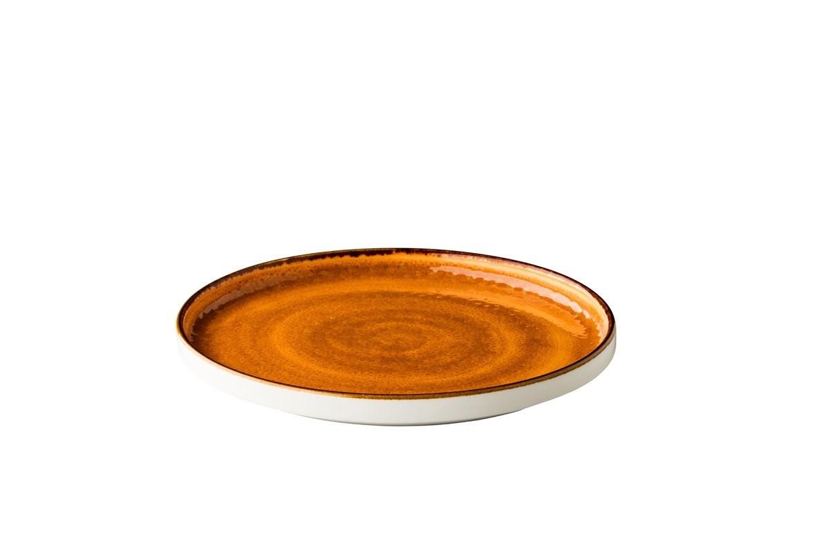 Productafbeelding Jersey bord opst. rand stapelbaar oranje 25,4 cm