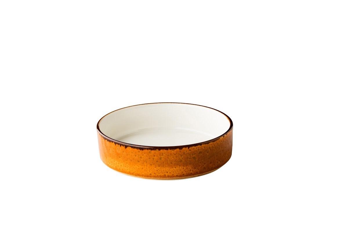Productafbeelding Jersey bord diep opst. rand stapelbaar oranje18cm