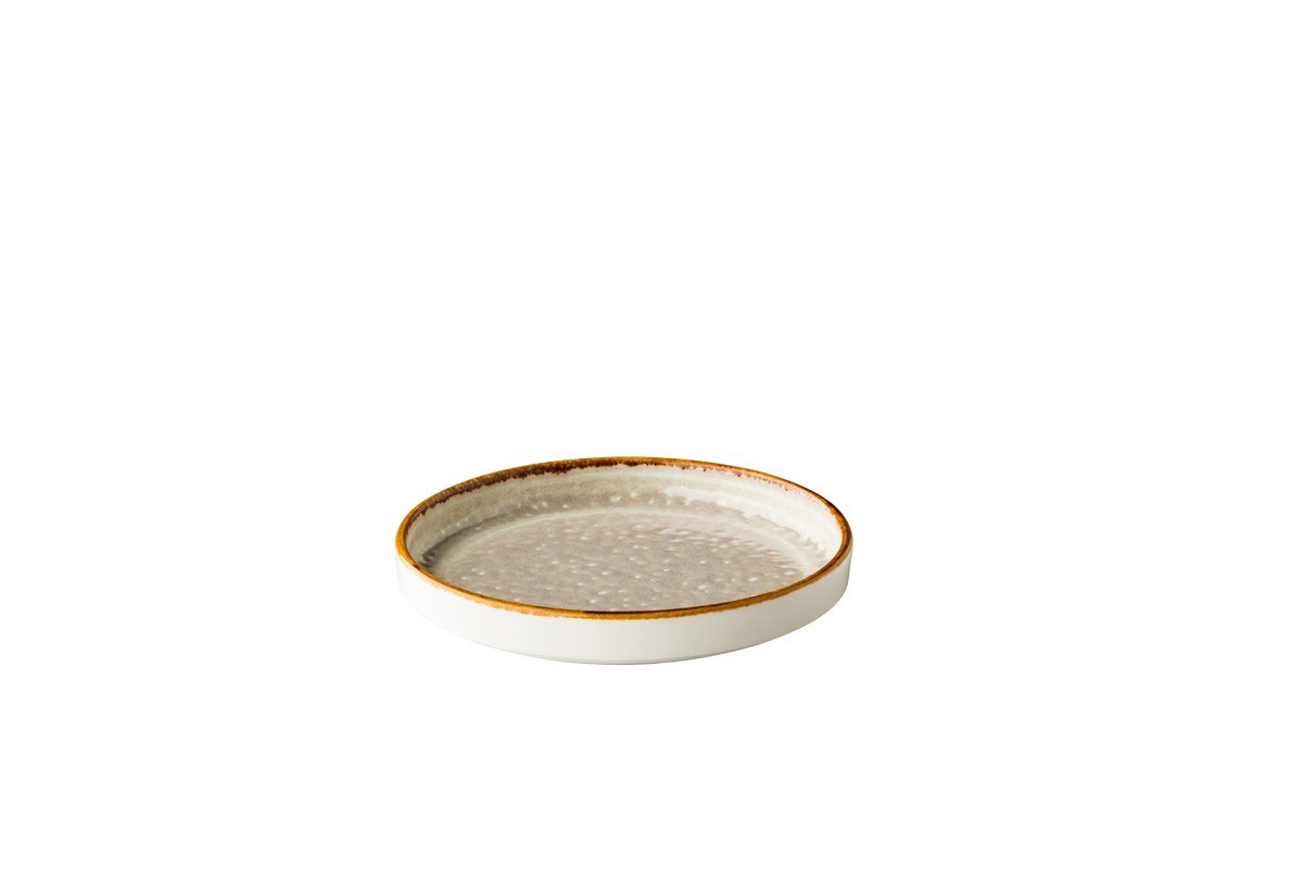 Productafbeelding Jersey bord opst. rand stapelbaar grijs 16cm