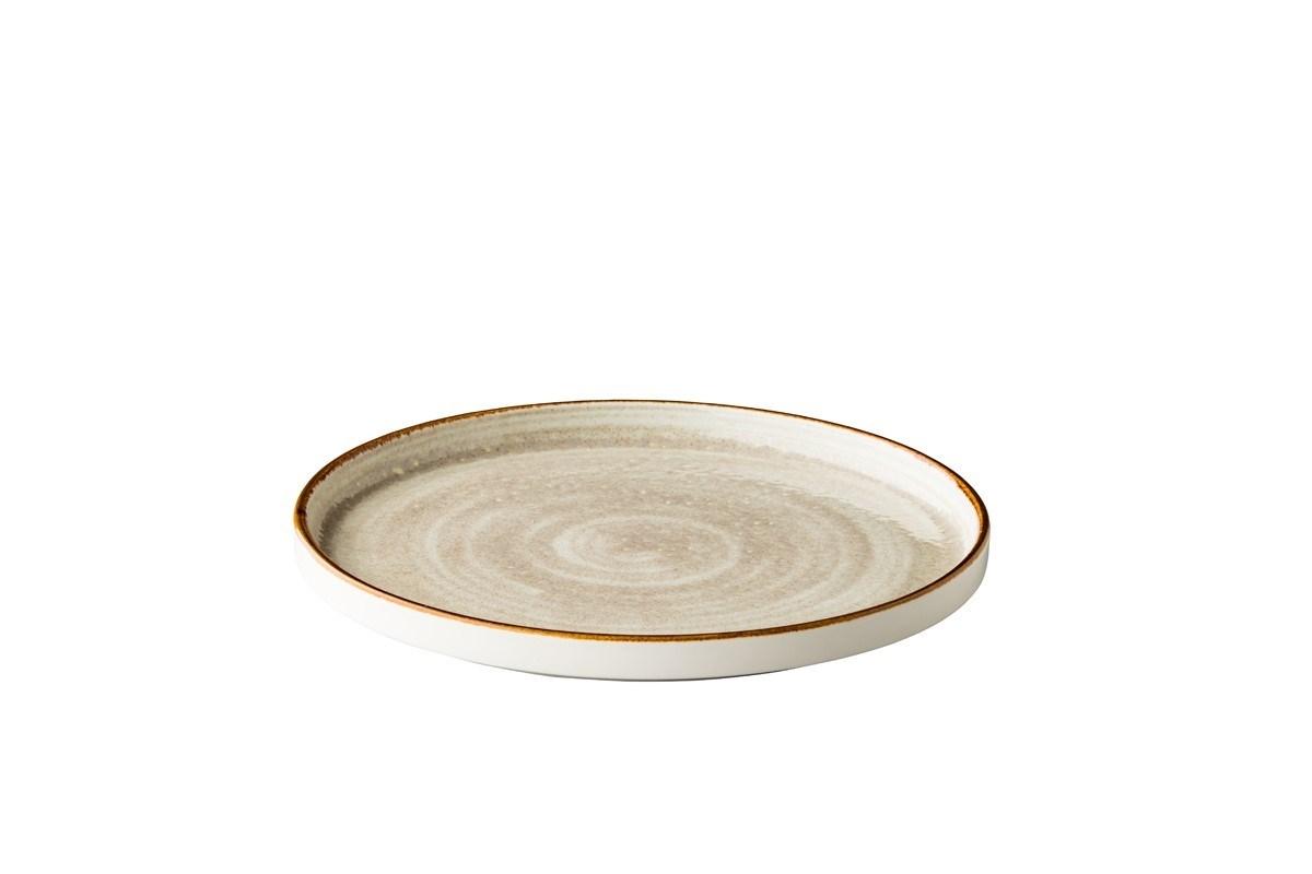 Productafbeelding Jersey bord opst. rand stapelbaar grijs 25,4 cm